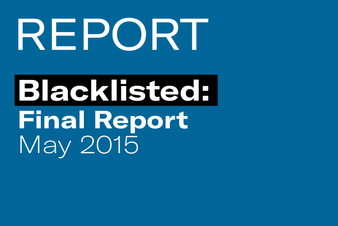 Blacklisted: Final Report (May 2015)